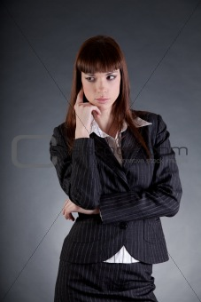 Disappointed business woman