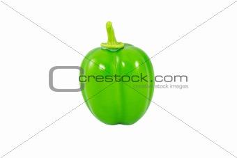 Green Capsicum annuum or Sweet Pepper or Bell Pepper or Capcicum
