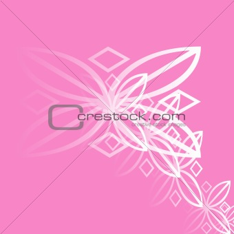 A background of white and pink design