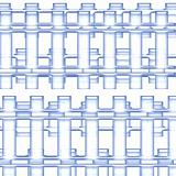 A background of blue bar design