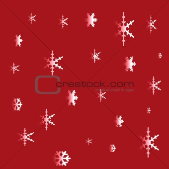 A Christmas Background with snowflakes
