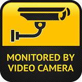 CCTV pictogram, web button
