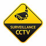 CCTV sign, video surveillance symbol
