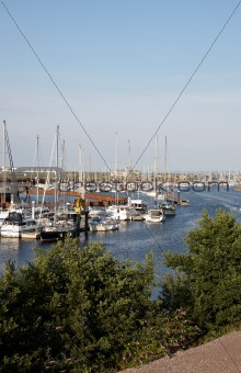 A marina in Wales
