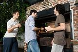 Friends having a barbeque