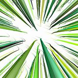 3d render multiple green wavy wire lines on white