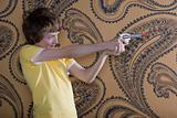 Boy with a toy gun