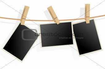 Three Photo Frames on Rope