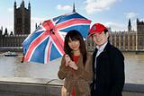 Tourist couple in london