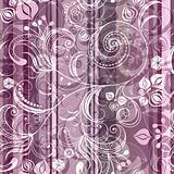 Striped pink floral pattern