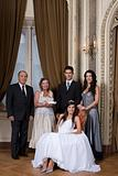 Quinceanera girl and family