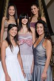 Quinceanera girl with mother and friends