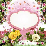 Backgrounds with rose and hearts