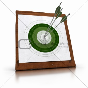 green target and arrows