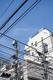 Building and overhead wires