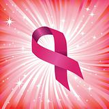 Breast cancer ribbon vector illustration. Woman solidarity.