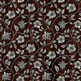 Seamless metall pattern on wooden background.