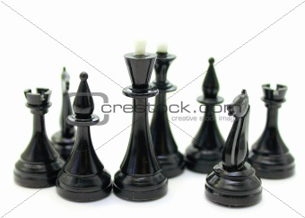 Beautiful close-up of chess pieces