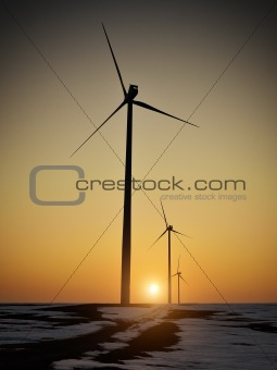 Alternative energy at sunset