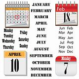 Set of calendars.