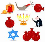 Rosh Hashanah Symbols Pack