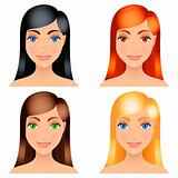 Women hair colors.