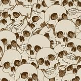 Human skulls seamless background