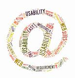 Web Usability word cloud isolated