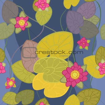 seamless pattern of a beautiful flower pink lotus