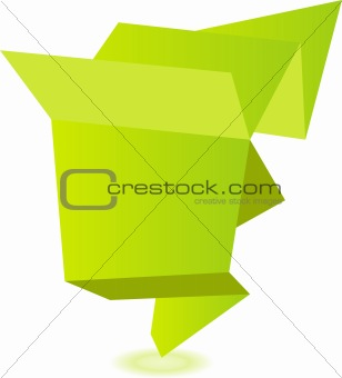 Abstract vector origami speech bubble background
