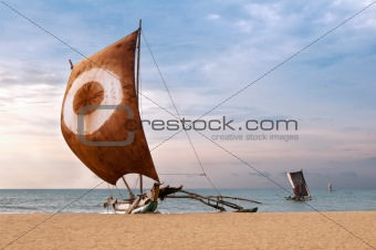 Fishing boat, Sri Lanka