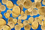 One pound coins failling