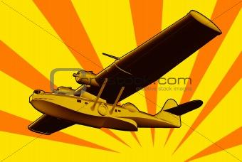 Catalina Flying Boat Sea Plane Retro