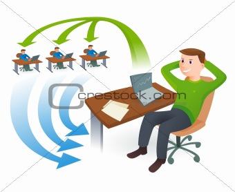 Happy Businessman Illustration