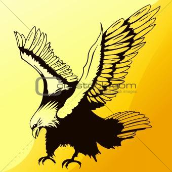 Landing Eagle Silhouette