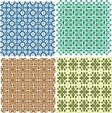 Vintage plaid abstract patterns set vector design