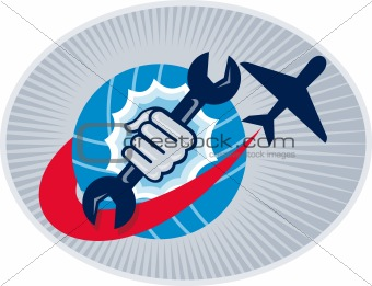 aviation aircraft mechanic hand spanner
