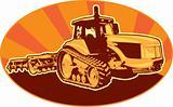 tractor mechanical digger excavator retro