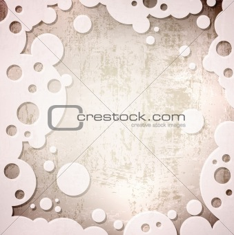 Grunge background in abstract frame
