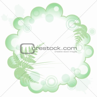 frame with silhouette of grass and fern