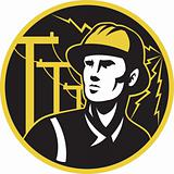 power lineman electrician repairman pole