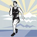 Marathon runner jogger fitness running front