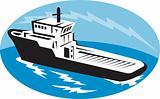tug boat ship at sea