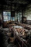 abandoned factory workshop