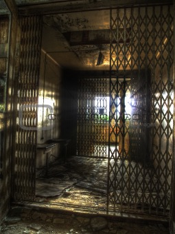 elevator in an abandoned complex