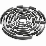 abstract 3d maze