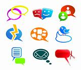 Chat and communication icons