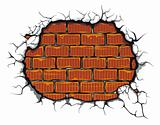 Damaged brickwall