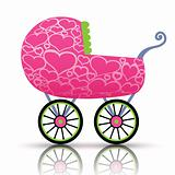 Stroller of hearts for baby