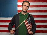 Man holding flag